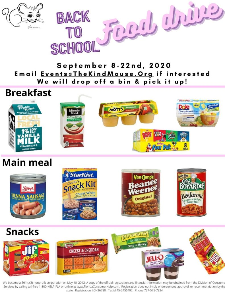 back to school food drive